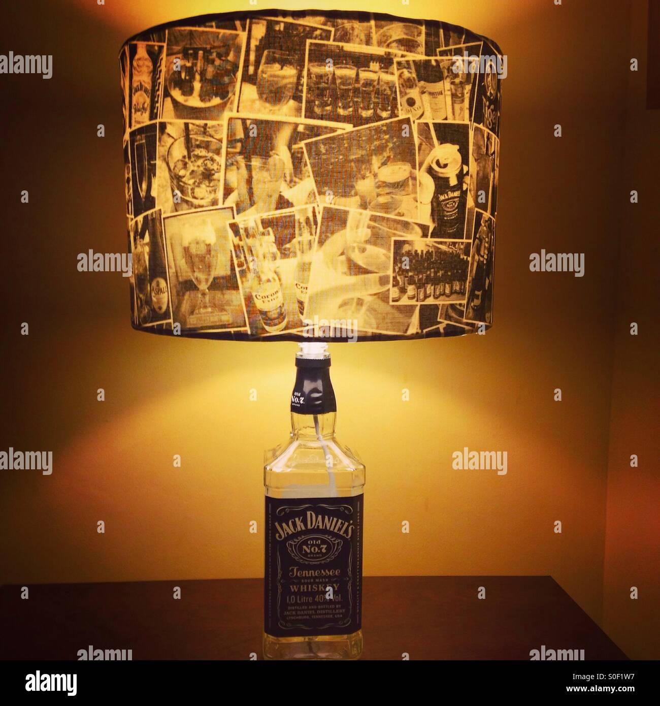 Jack Daniels Bottle Lamp   Stock Image