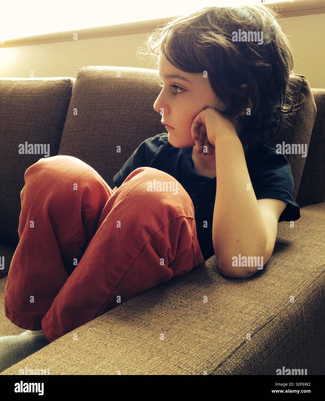 Pensive Child - Stock Image