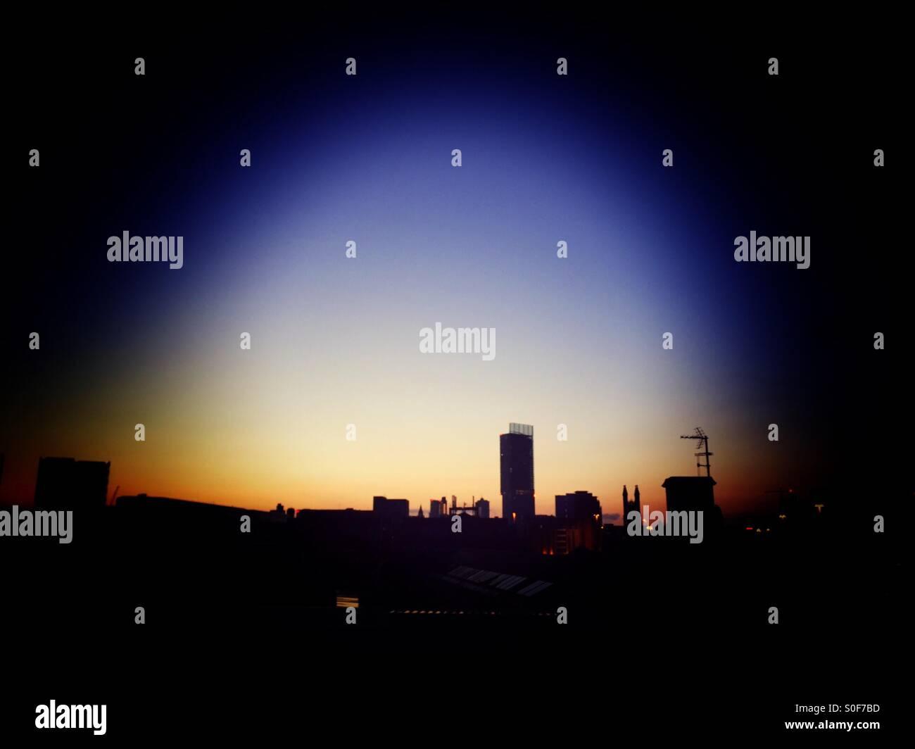 Manchester sunrise - Stock Image