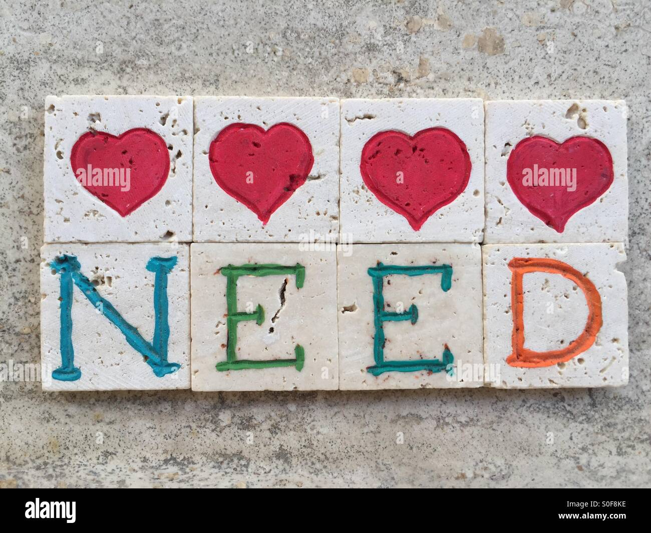 Need love conceptual composition - Stock Image