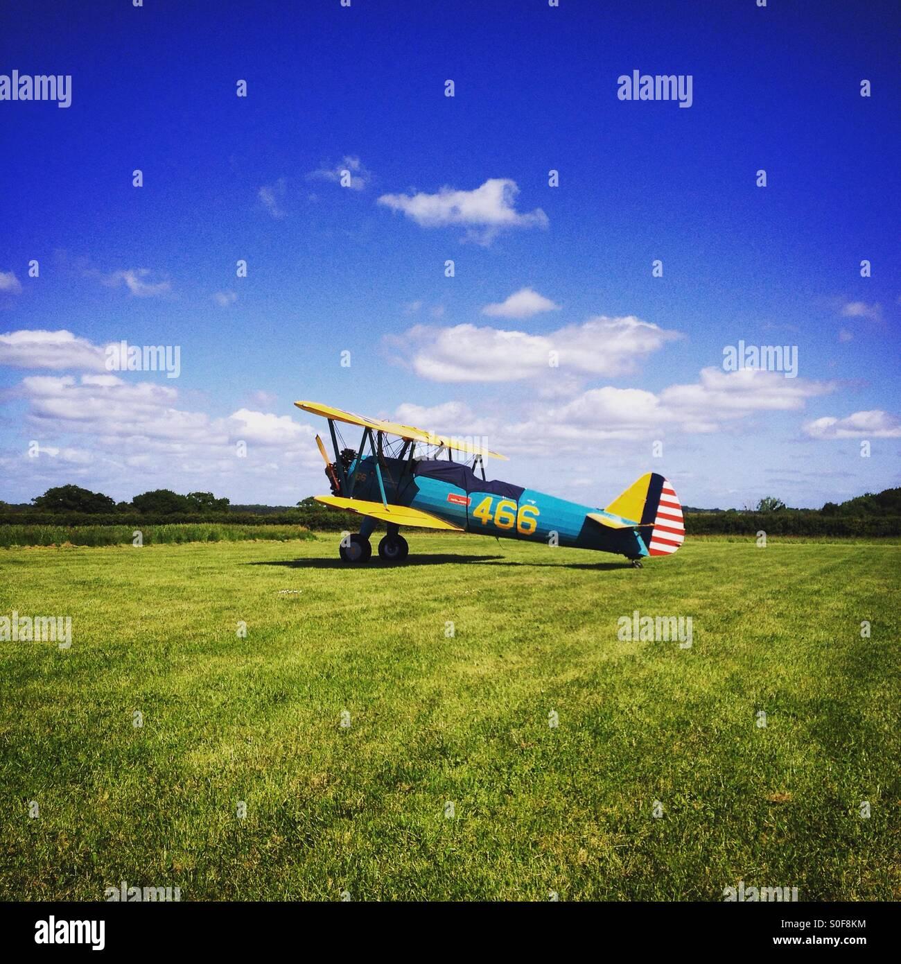 Boeing Stearman biplane Stock Photo