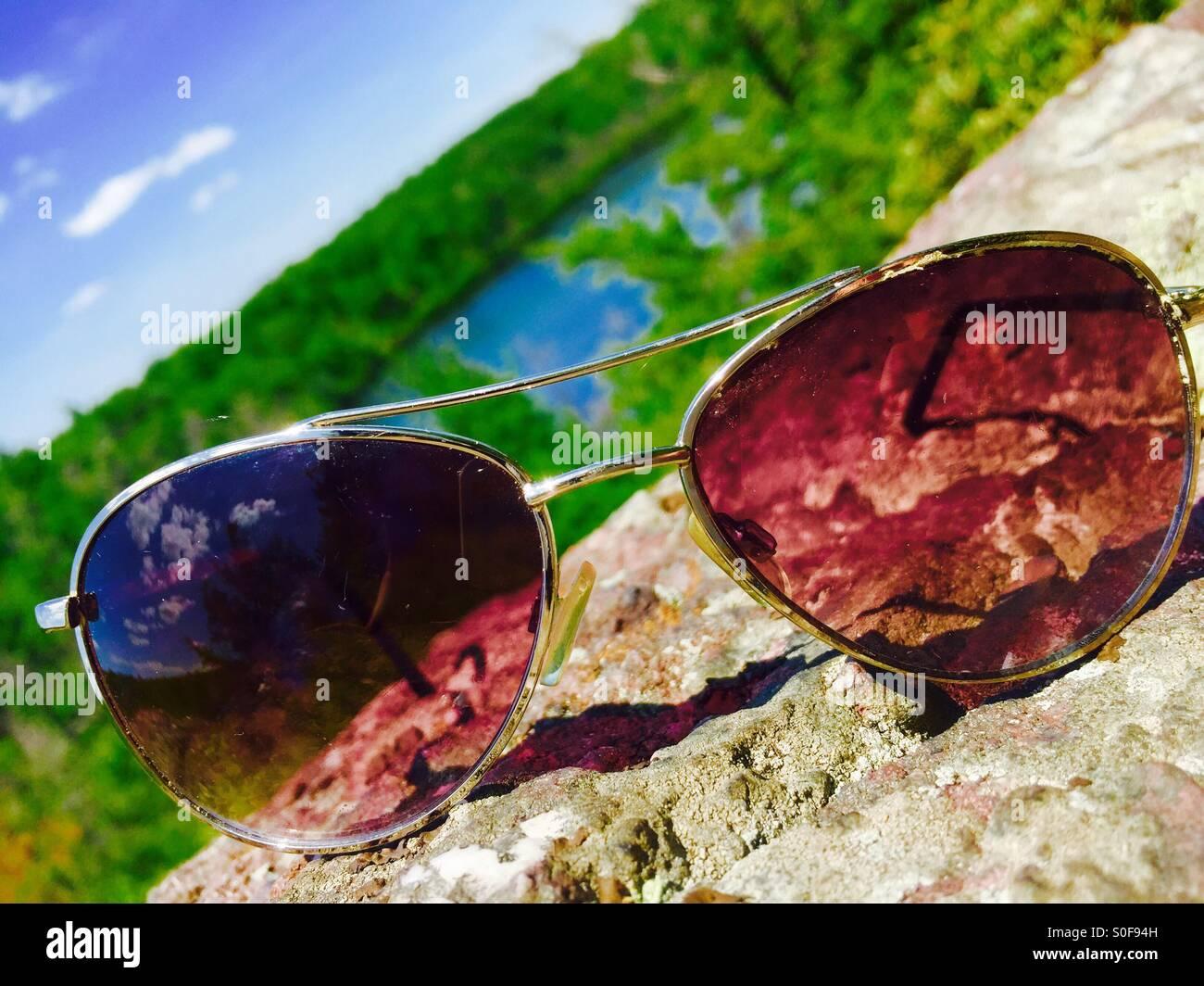 Sunglass View - Stock Image