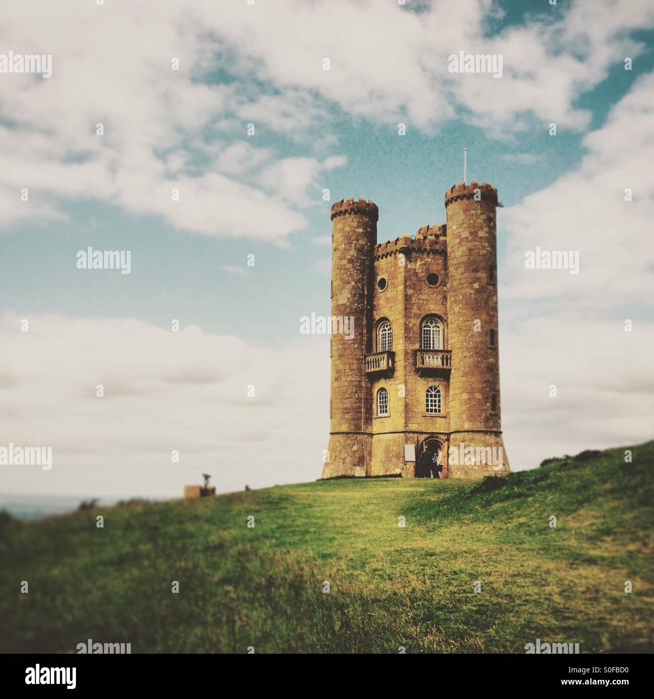 Broadway tower in Worcestershire. - Stock Image
