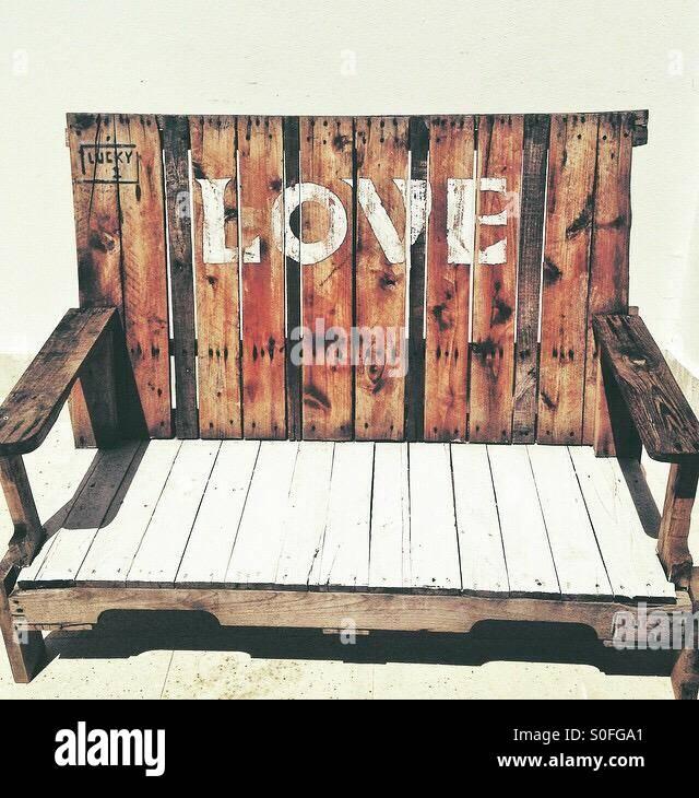 Love bench Stock Photo