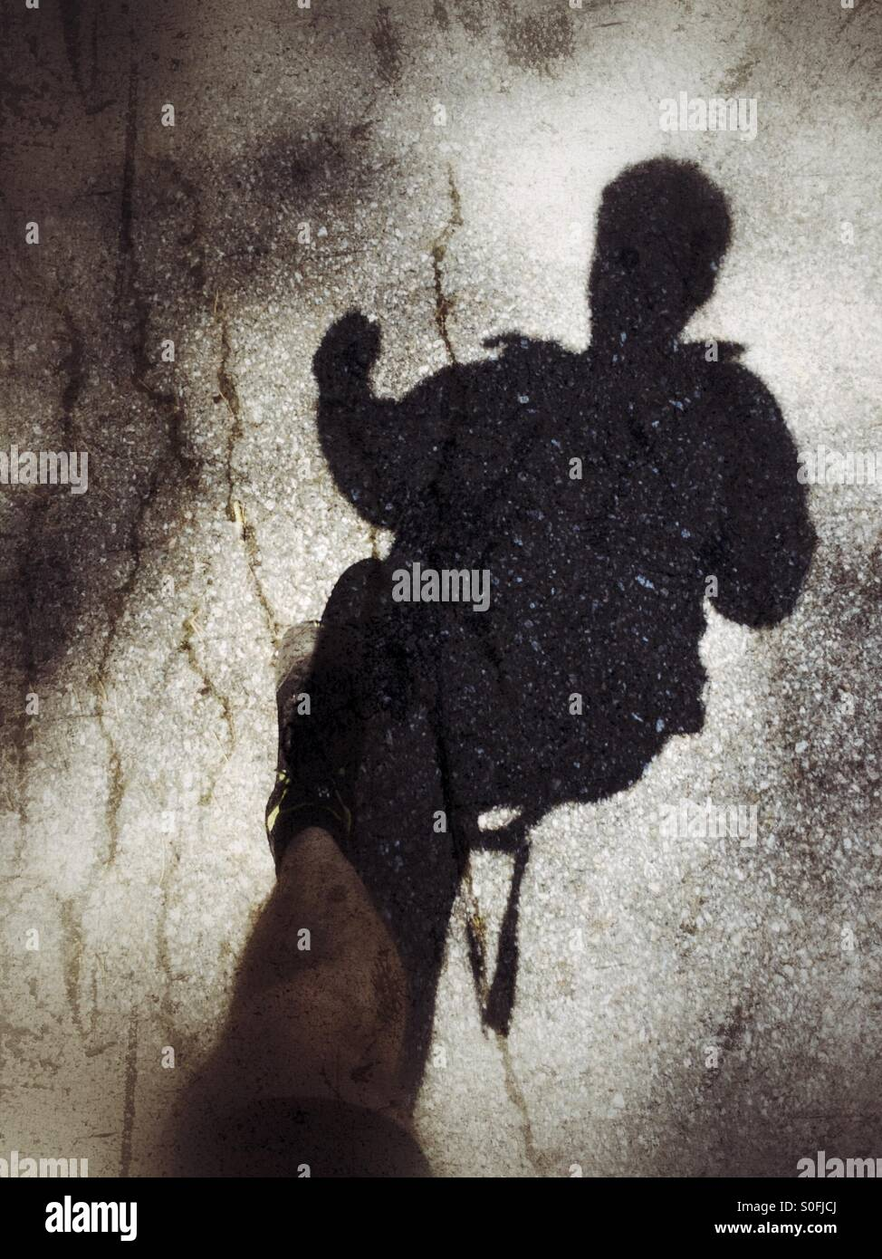 Running shadow. Stock Photo