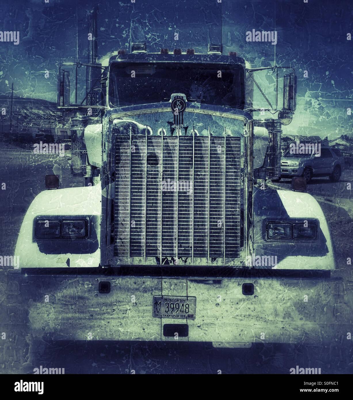Kenworth diesel truck - Stock Image