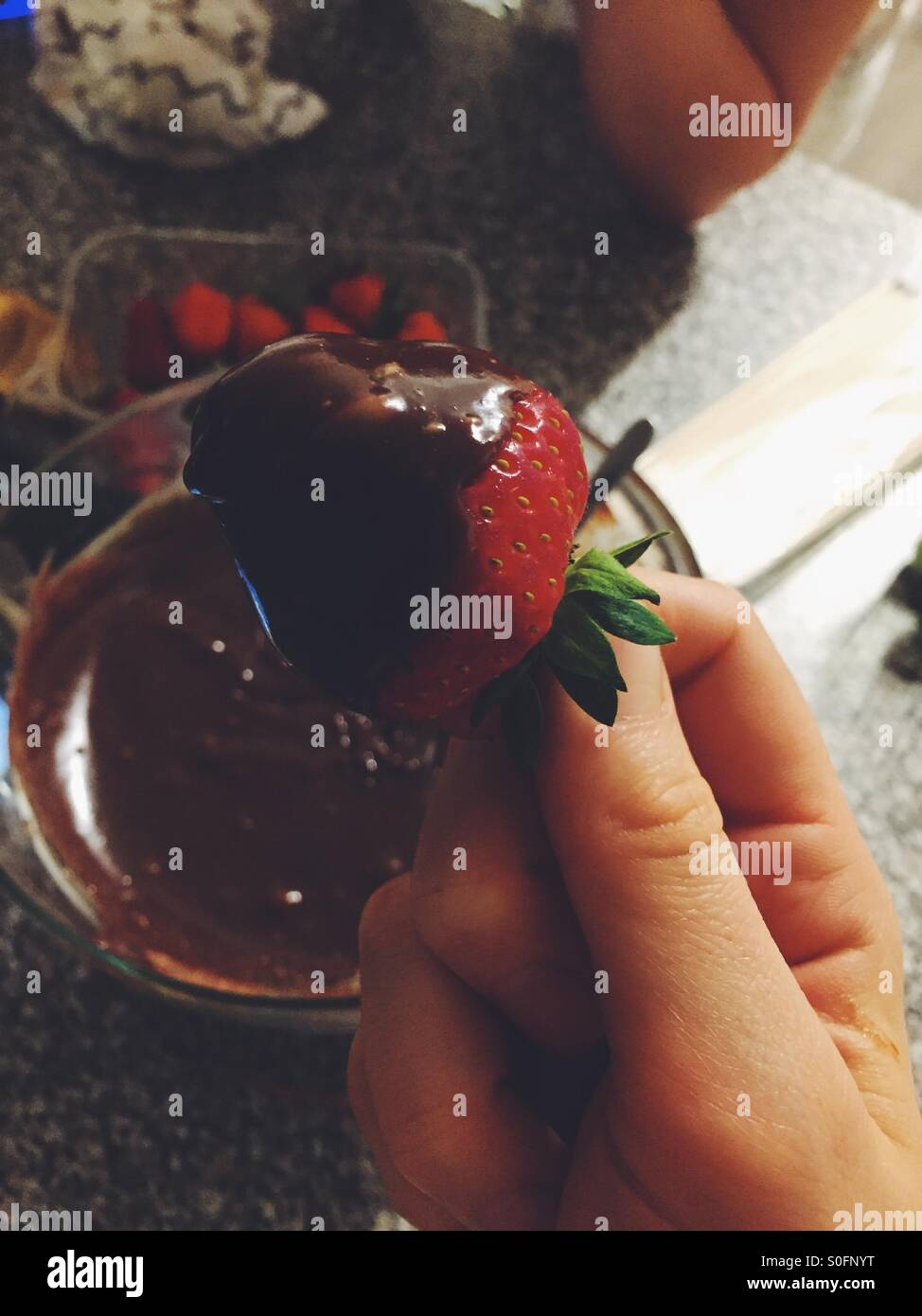 Summertime strawberry - Stock Image