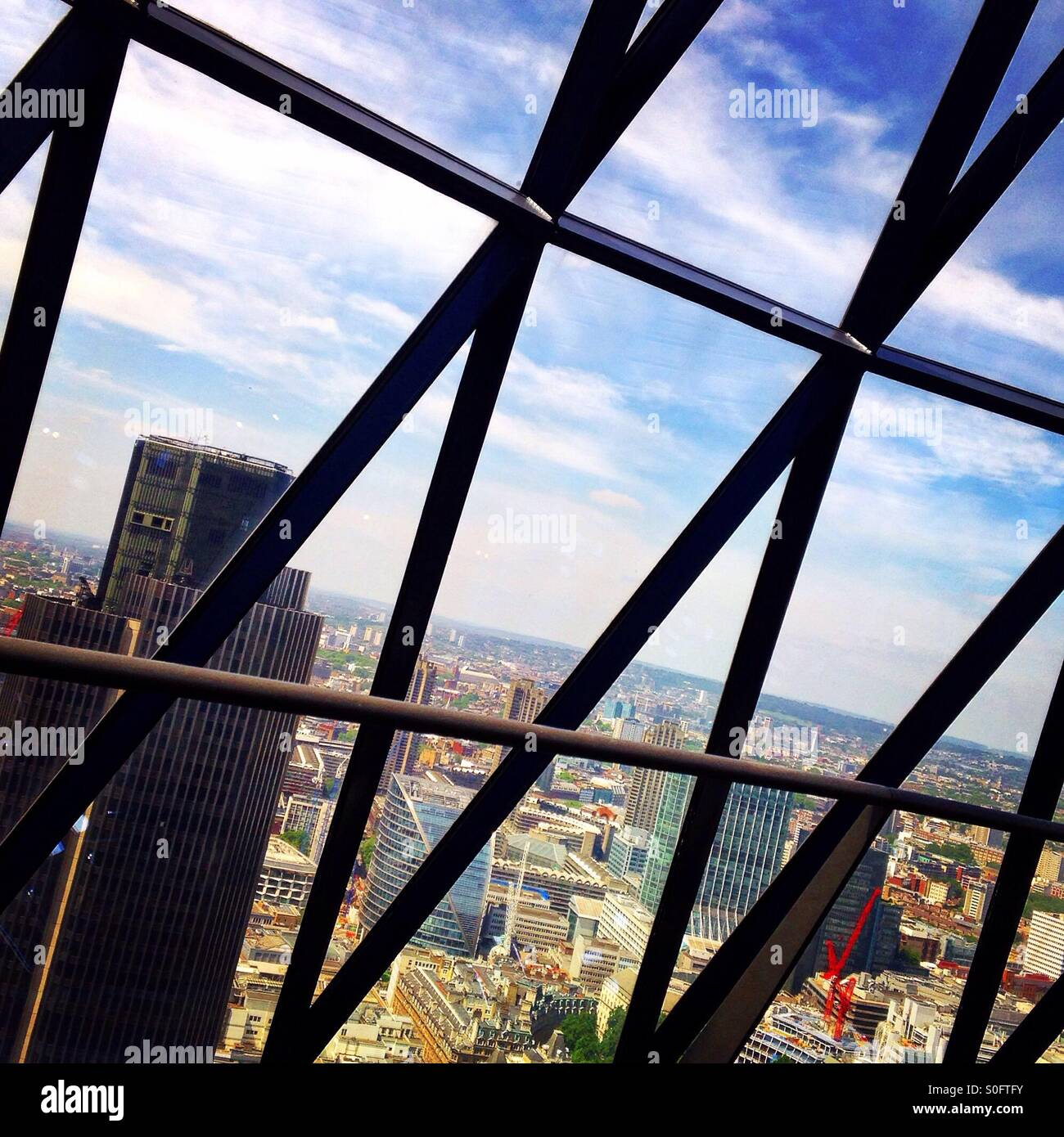 The view from the Gherkin - Stock Image