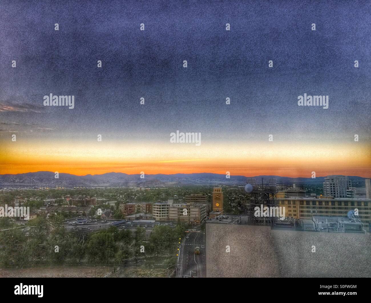 Reno Sunrise - Stock Image