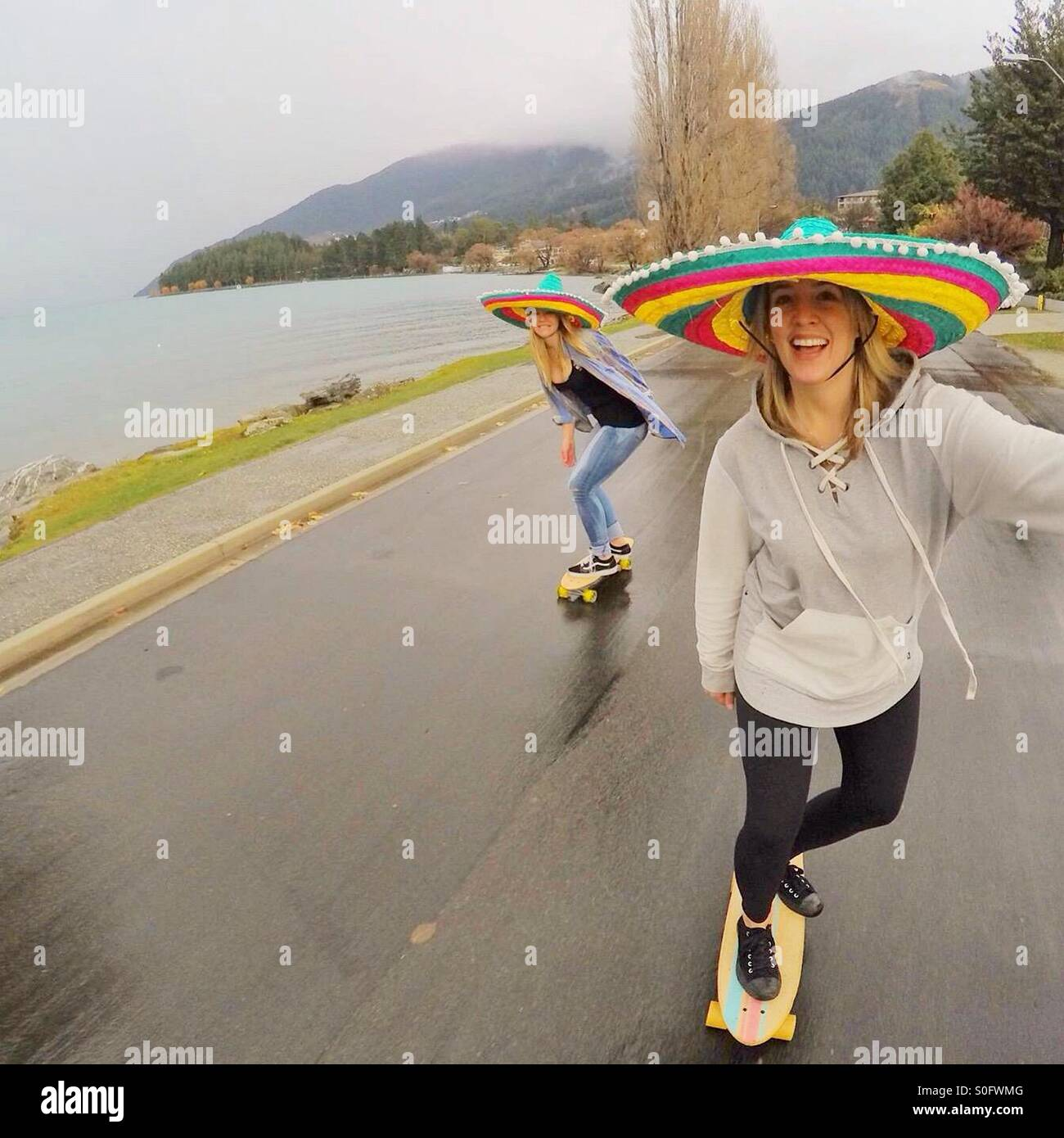 Having a siesta on a rainy day in Queenstown - Stock Image