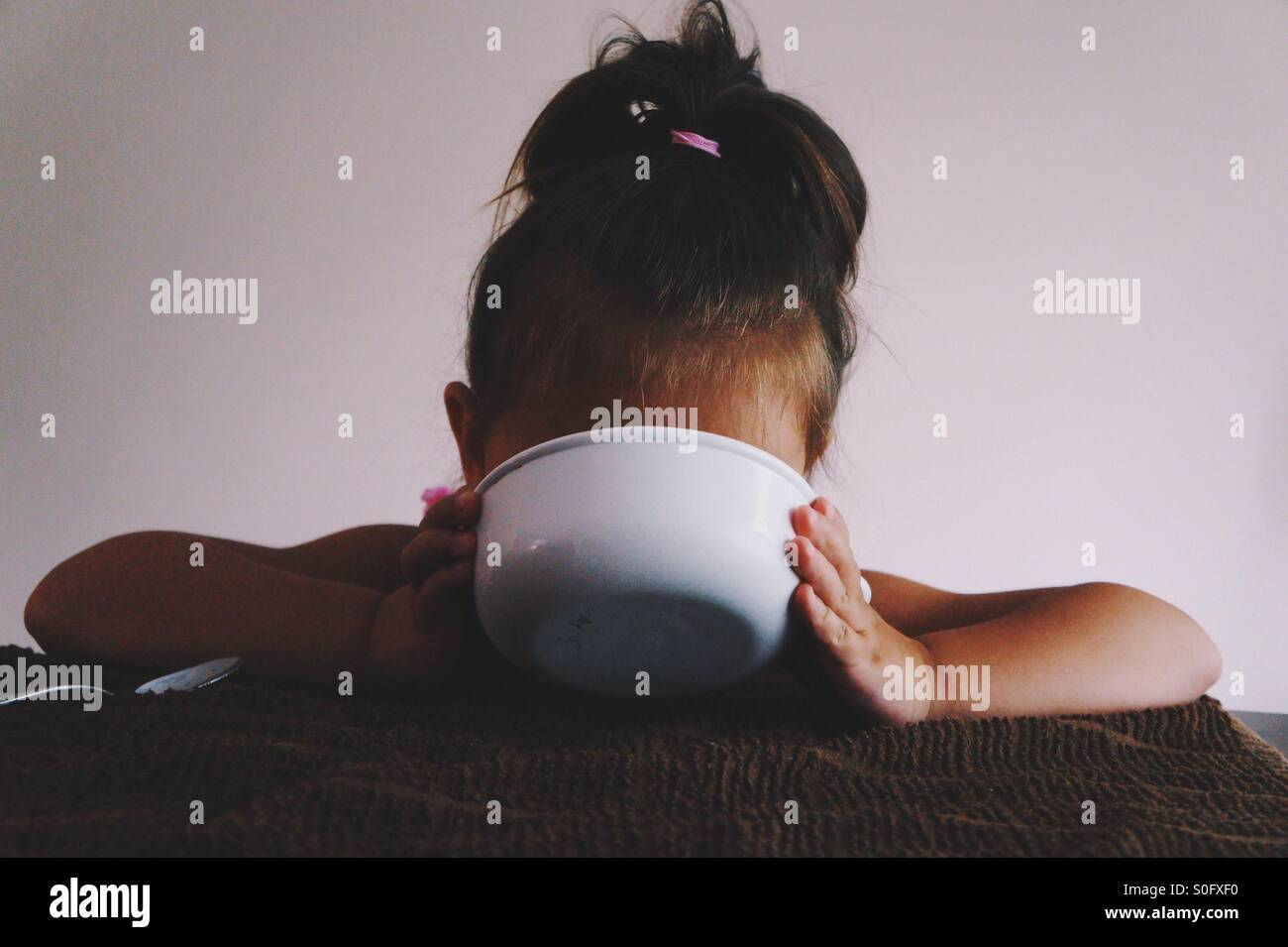 That last bit of milk is the best part. - Stock Image