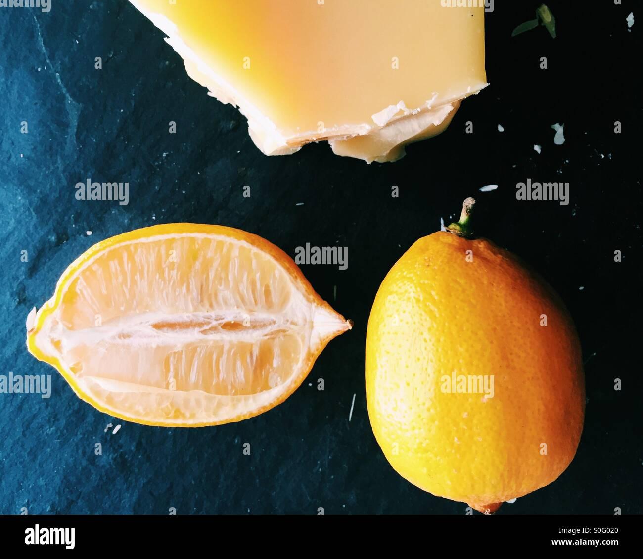 Lemons and beeswax - Stock Image