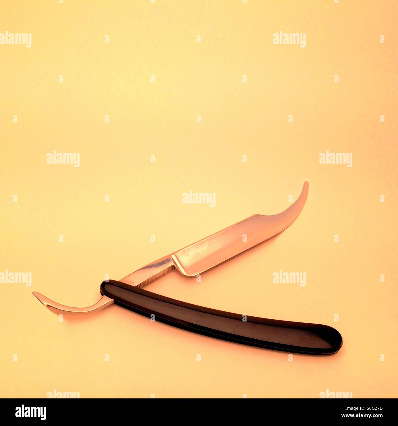 Surreal cut throat razor knife - Stock Image