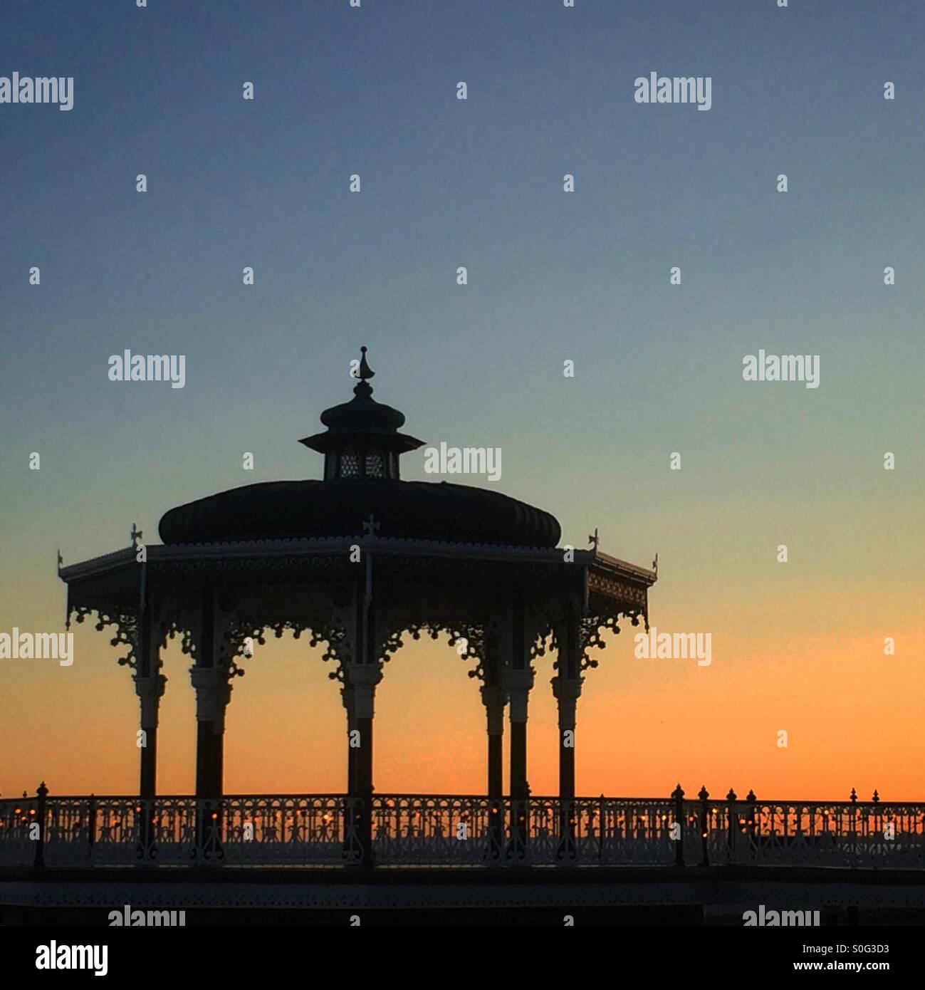 Bandstand at dusk - Stock Image