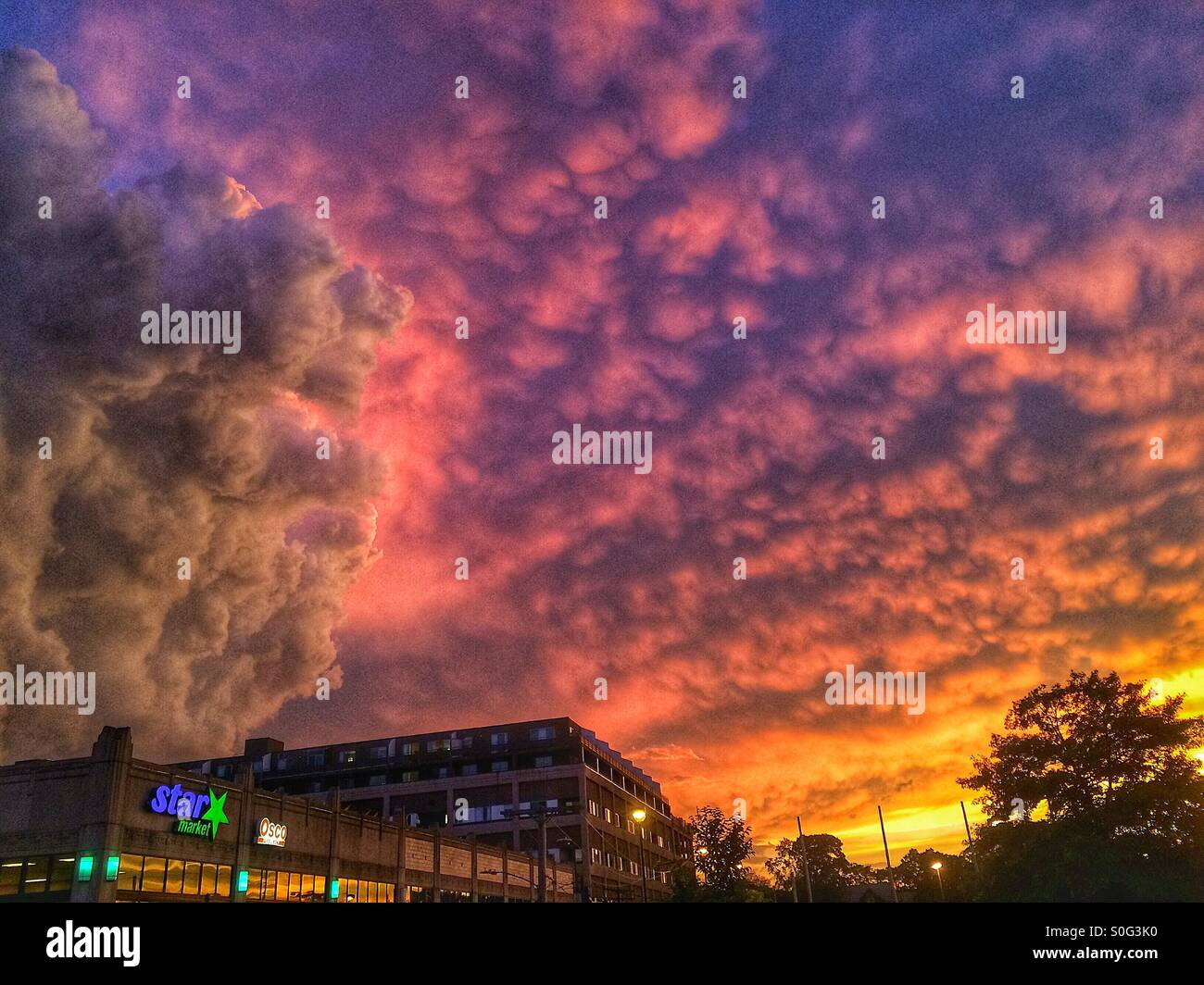 Star market dodging a storm - Stock Image