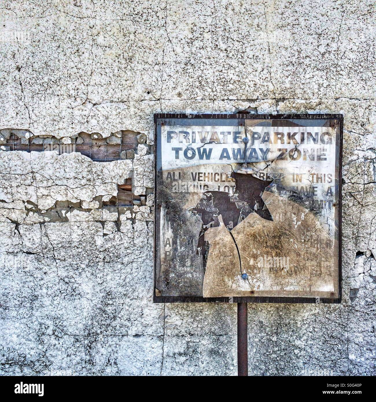 Weathered Sign 2 - Stock Image