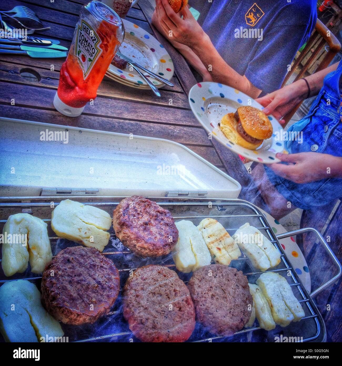 Garden barbecue. - Stock Image