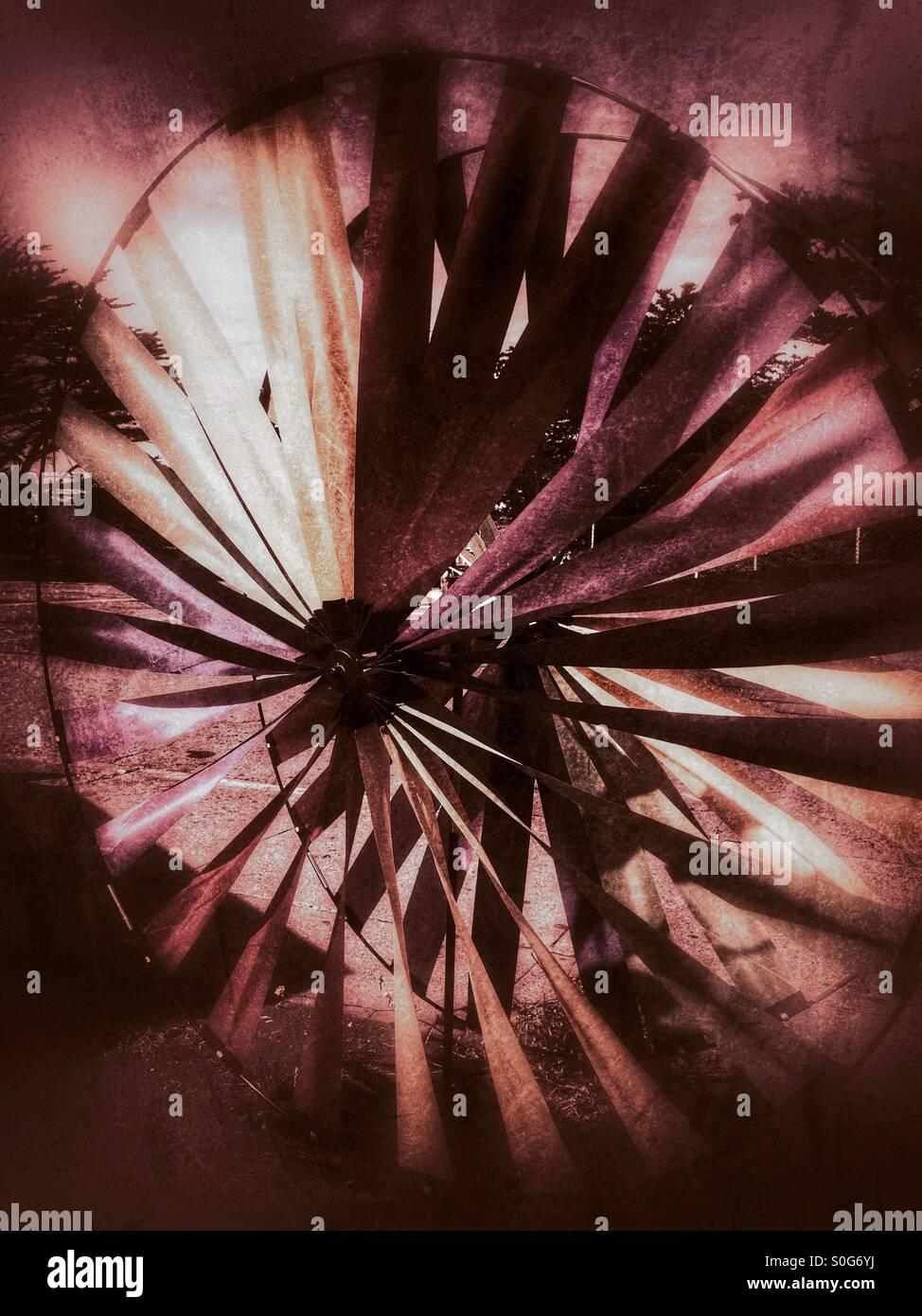 Wind spinner - Stock Image