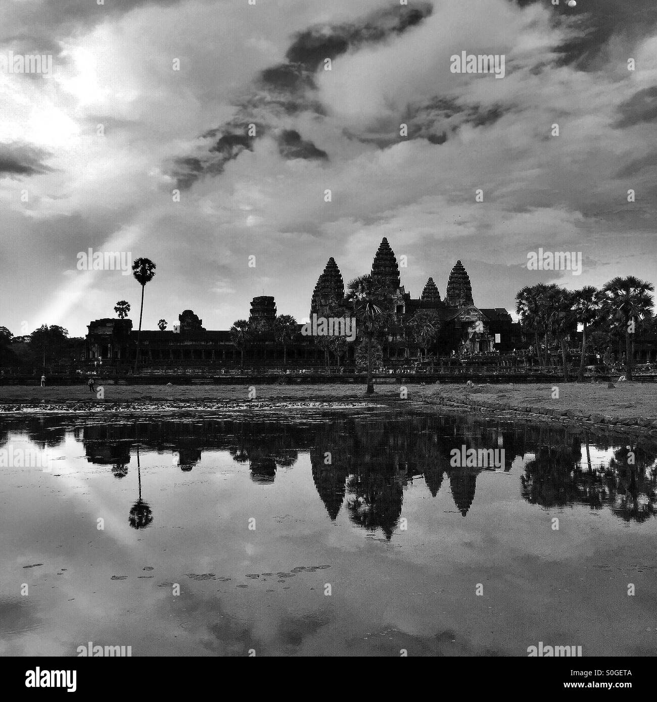 One Of The Largest, Most Astonishing, Religious Monument In The World, Built By The Khmer Civilization Between 802 - Stock Image