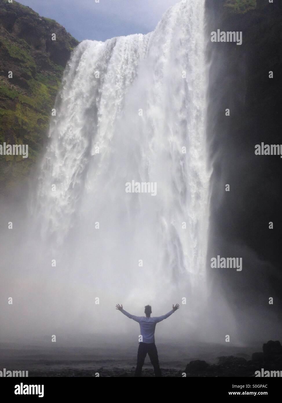 Skogafoss, Iceland - Stock Image