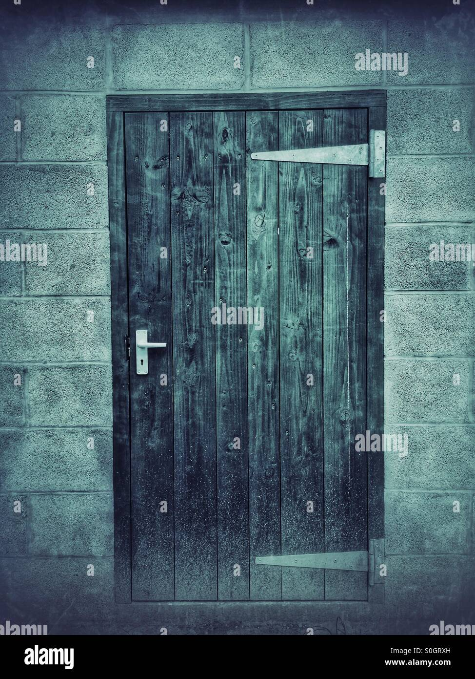 Closed door - Stock Image