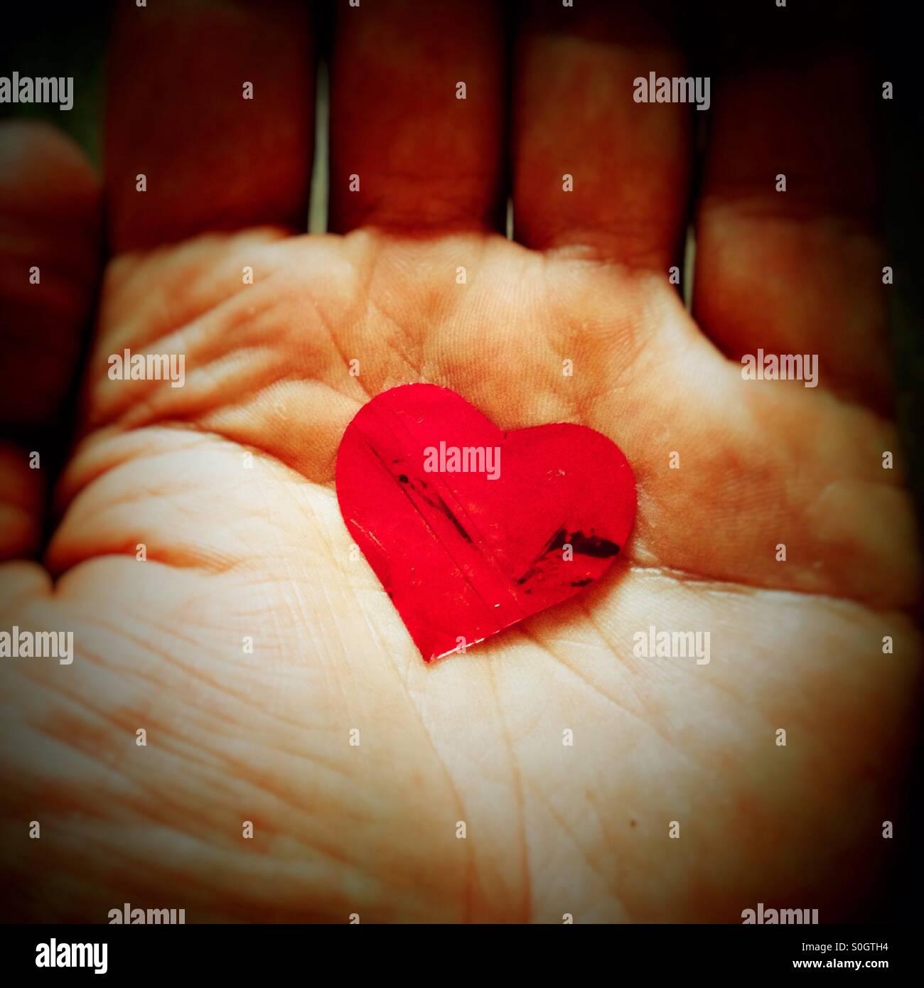 Hand Heart - Stock Image