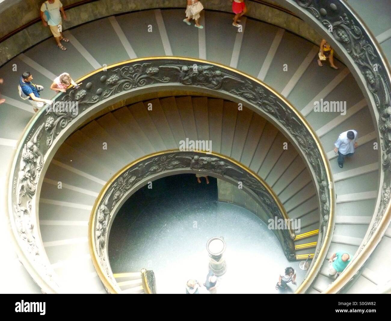 Winding Staircase At The Vatican Museum   Stock Image