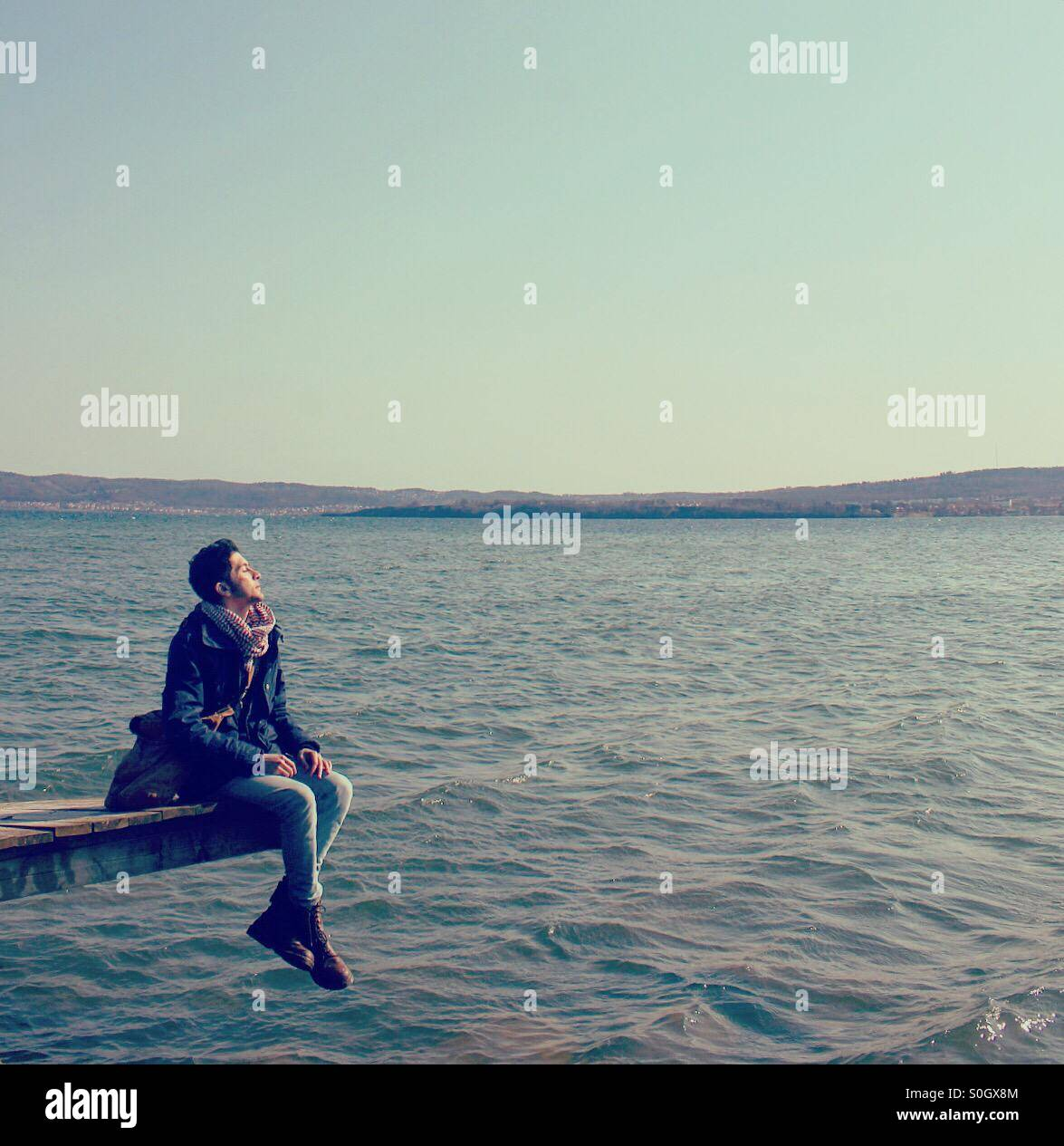 Deep in thoughts - Stock Image