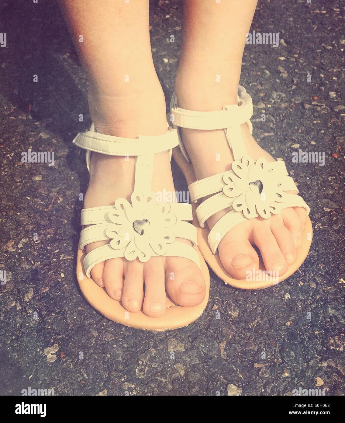 c0bd1f2d17039 Girls Feet In Sandals Stock Photos   Girls Feet In Sandals Stock ...