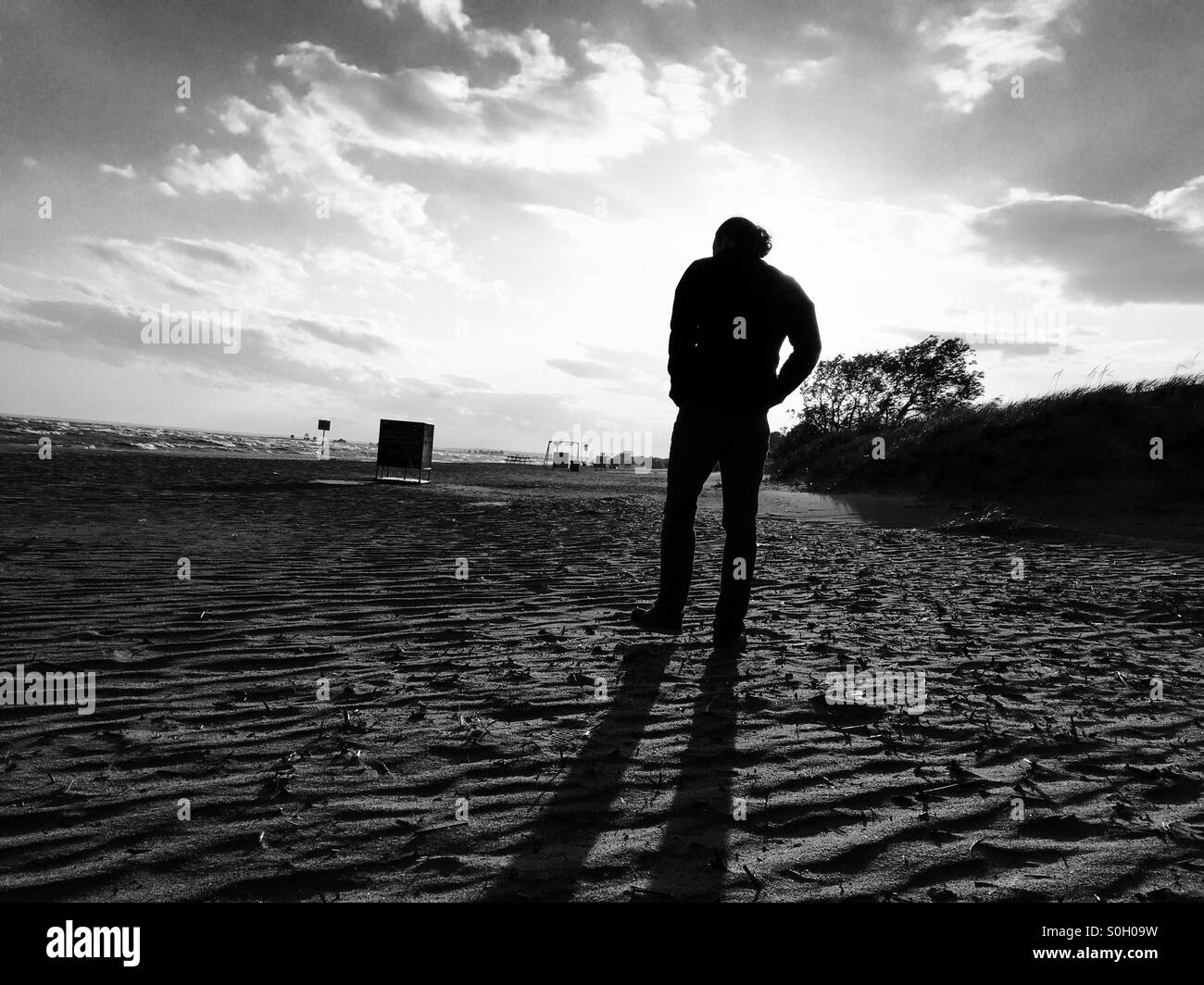 Walking alone black and white stock photos images alamy