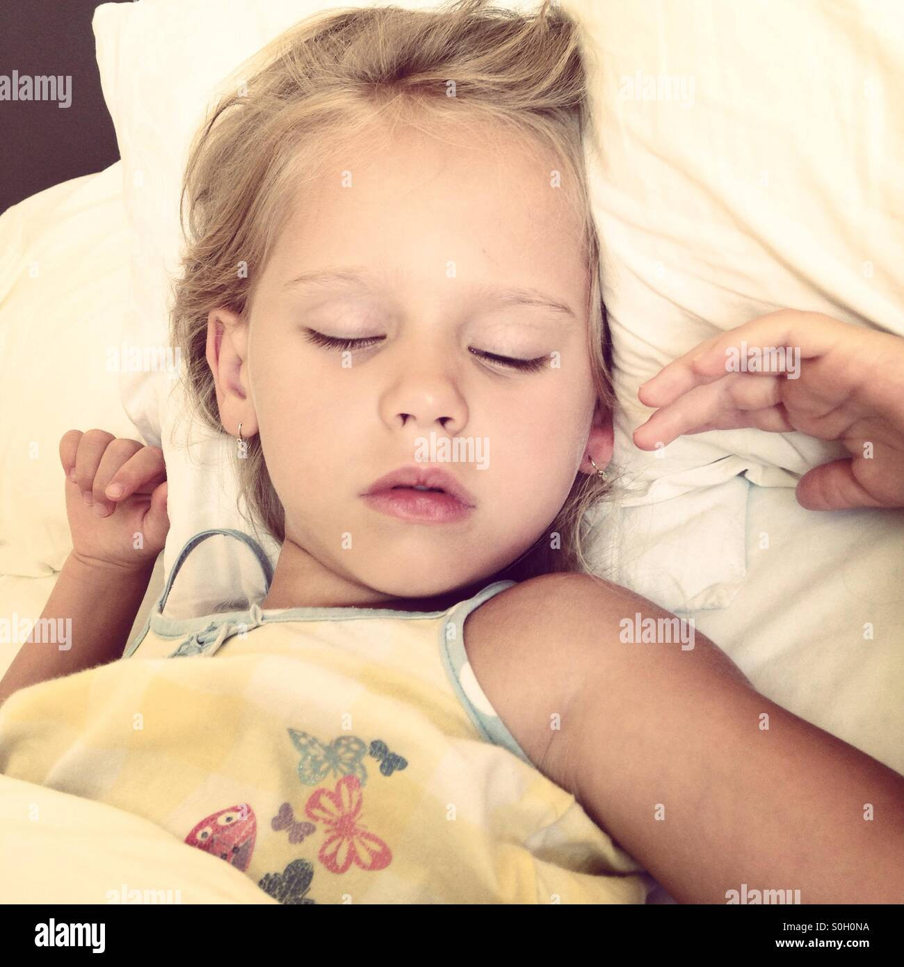 Sleeping little beauty - Stock Image