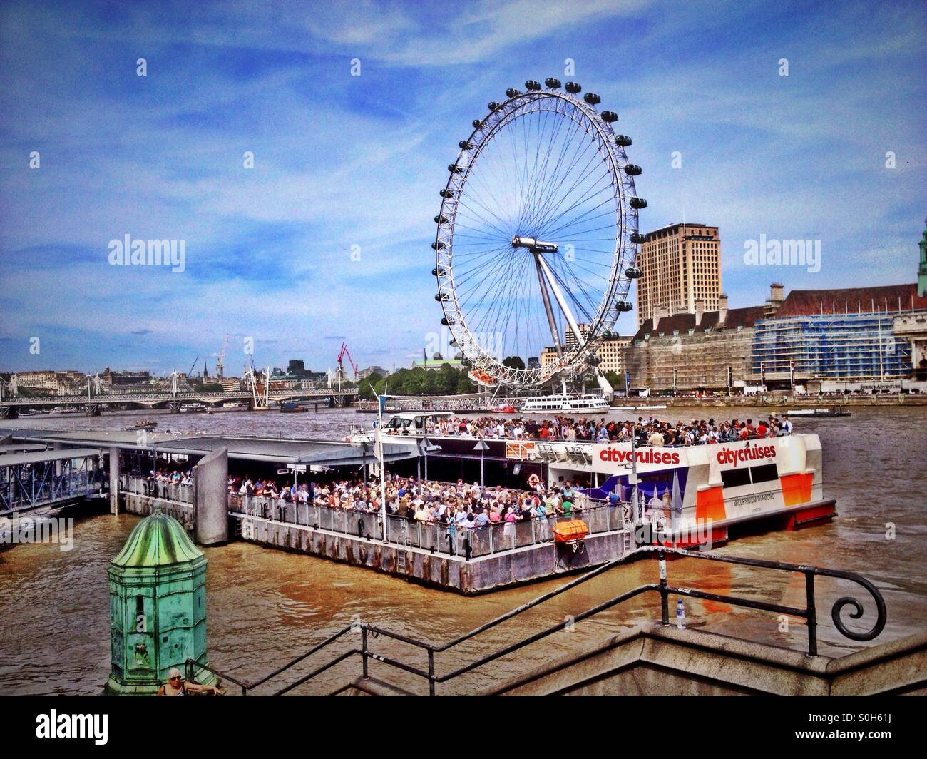 River cruise on The River Thames. - Stock Image