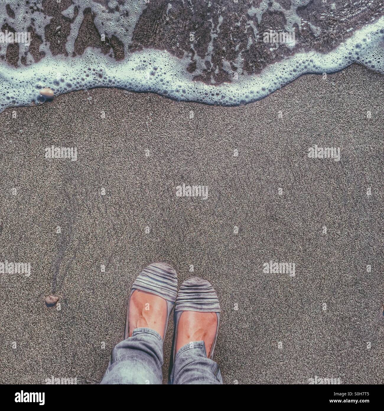 By the sea... - Stock Image