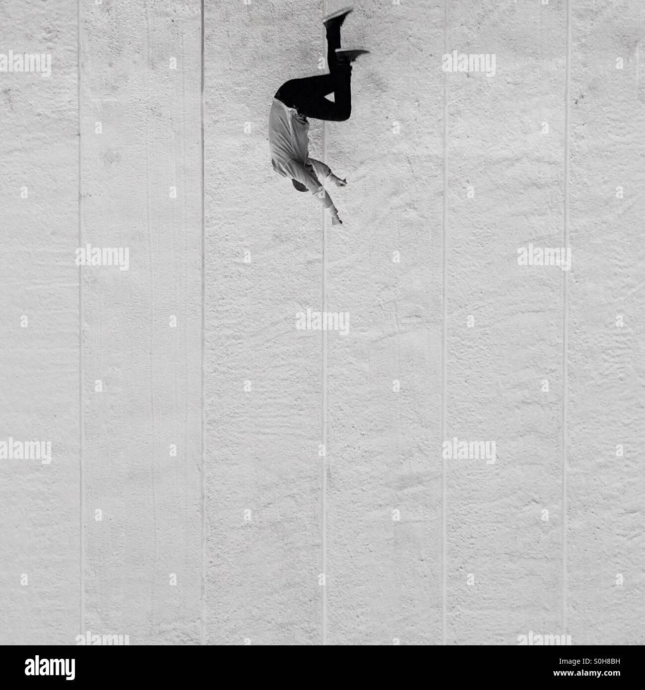 Free fallin' - Stock Image