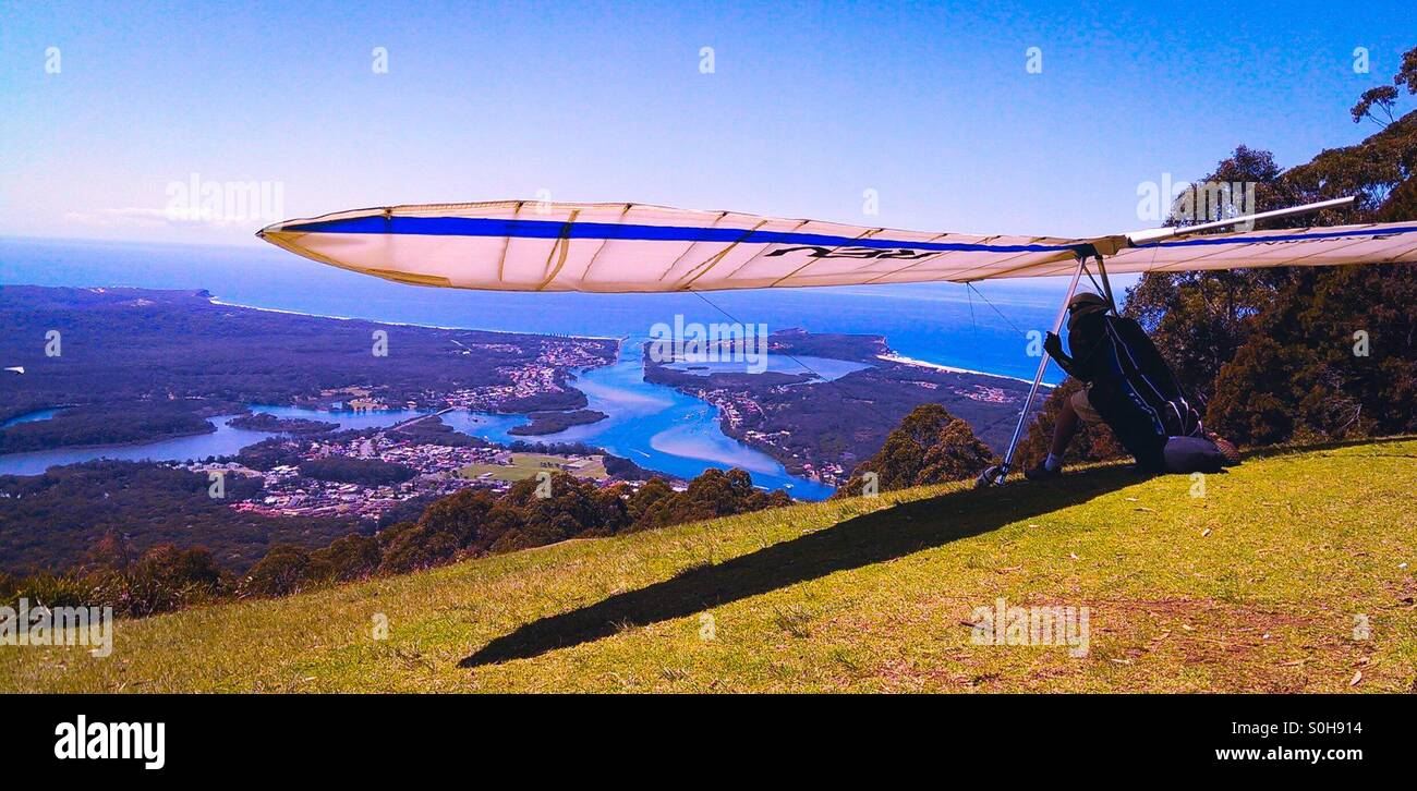 Will he or won't he take off? - Stock Image