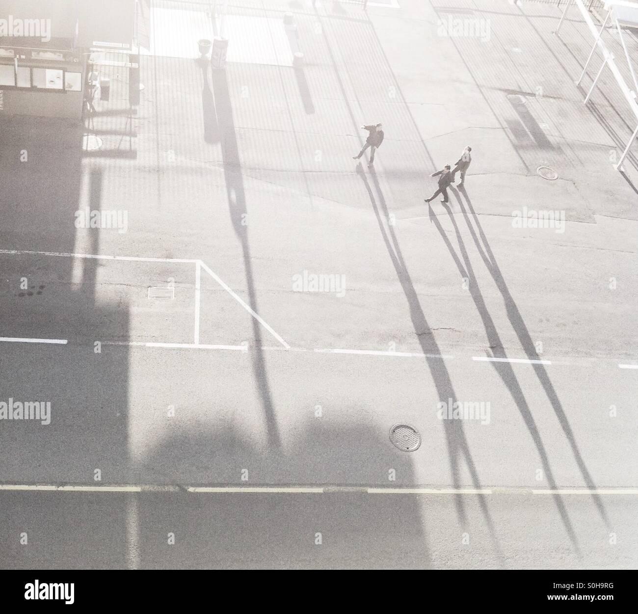Walking giants - Stock Image