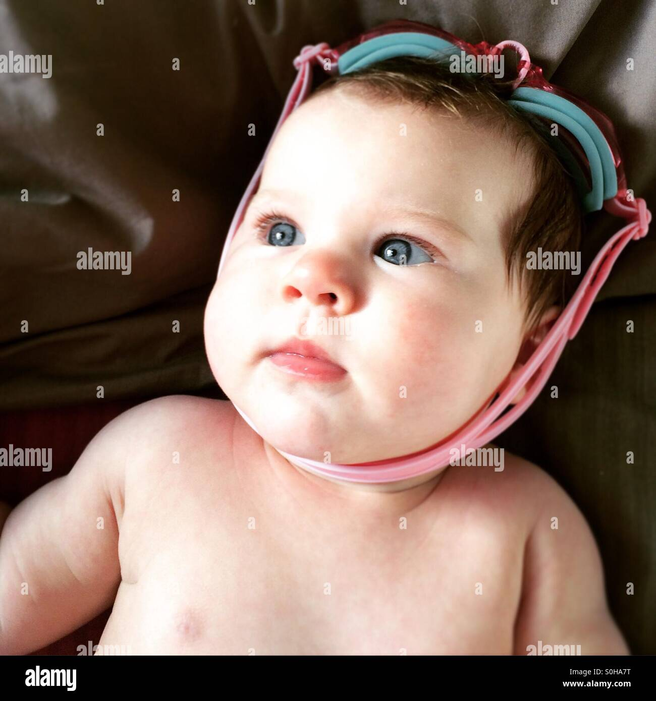 Baby swim lessons - Stock Image