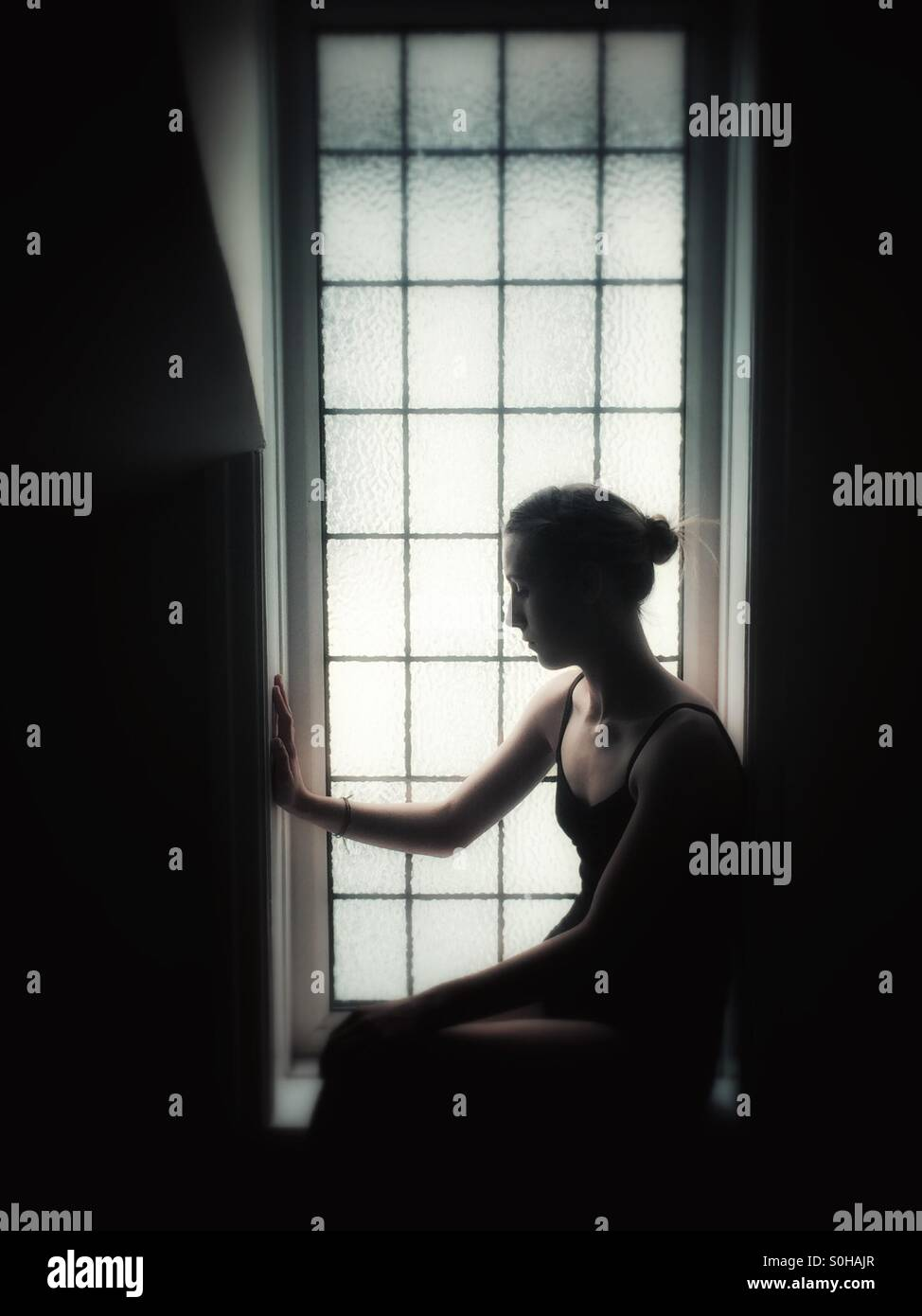 Girl thinking - Stock Image