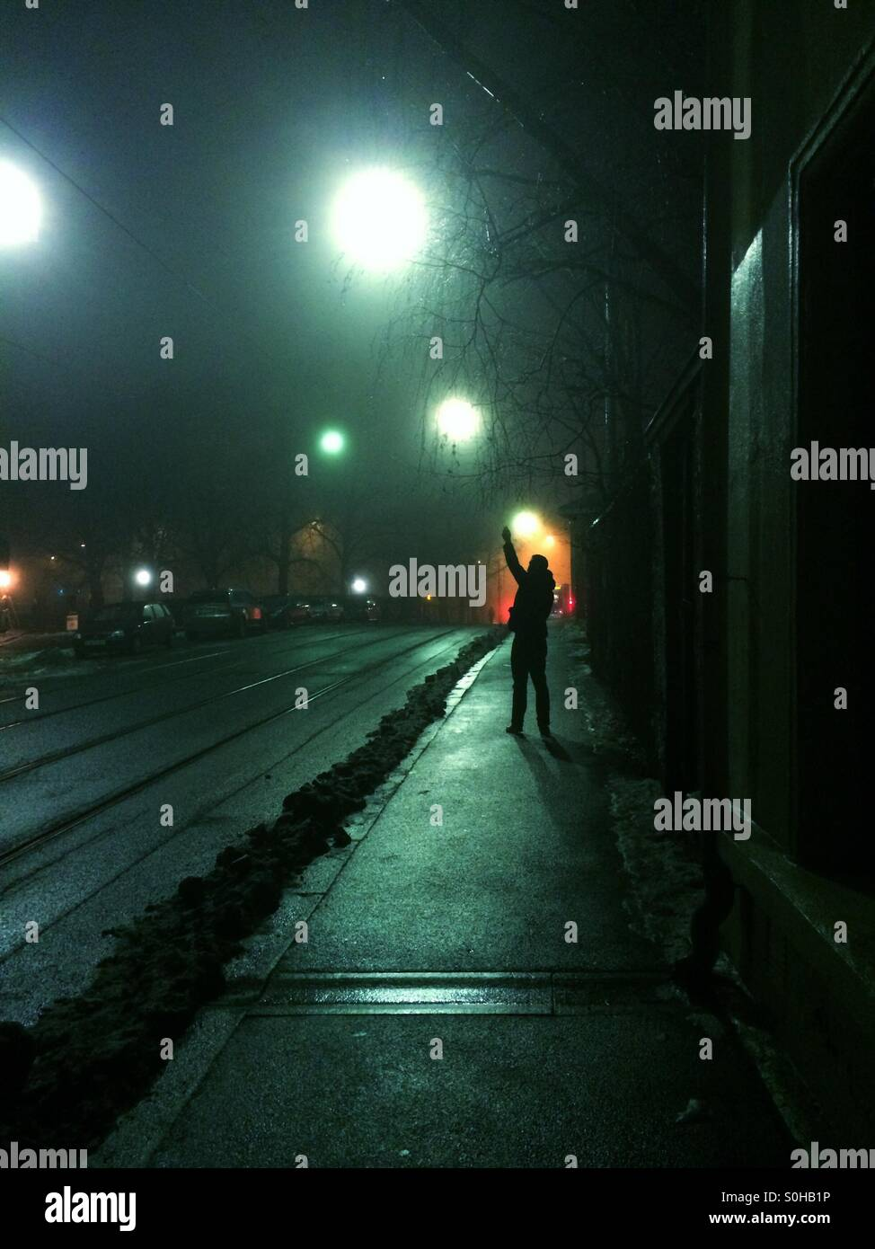 Dark nights - Stock Image