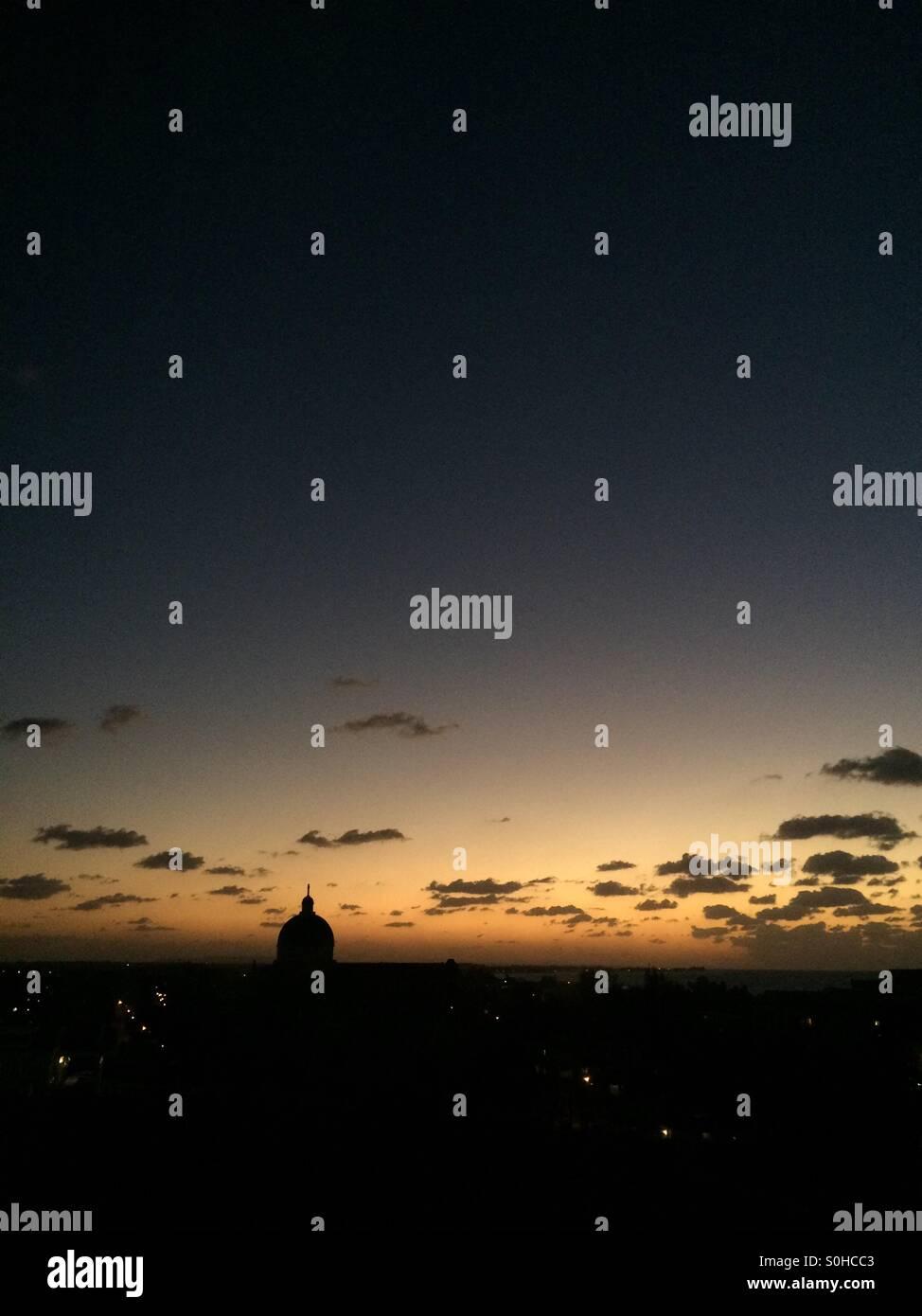 Cuba, Havanna sunset! Stock Photo