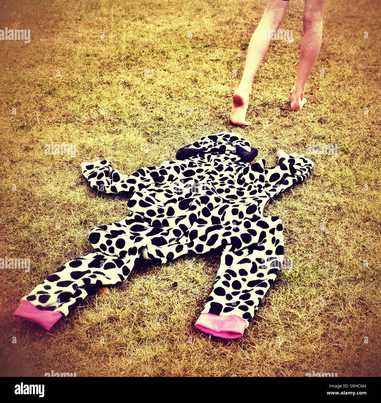Escaping from a onesie ! - Stock Image