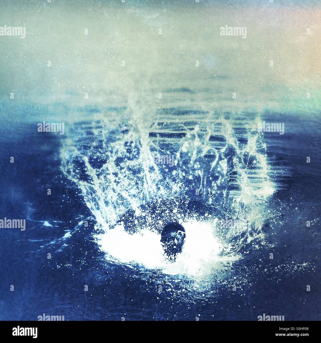 The big splash - Stock Image