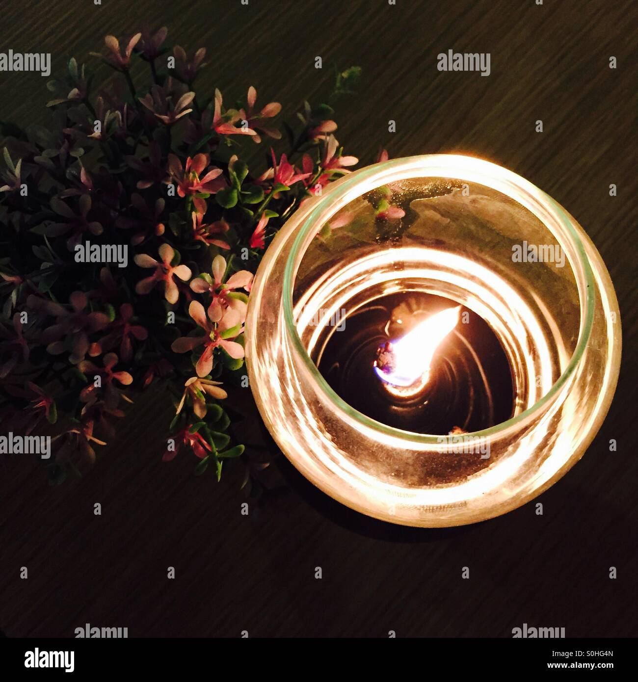 Light on a dinning table - Stock Image