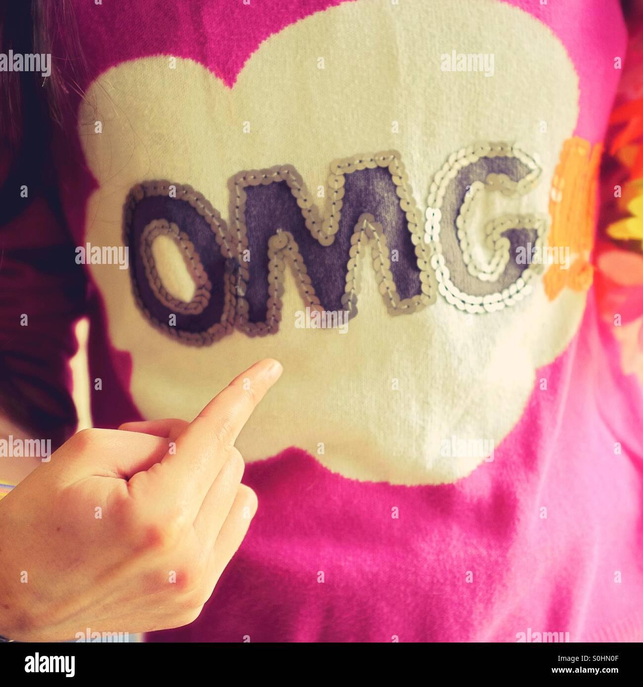 OMG ! - Stock Image