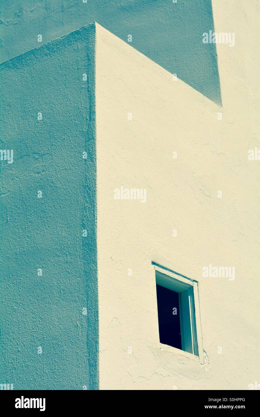 Close up of a white building in Loutro, Crete - Stock Image