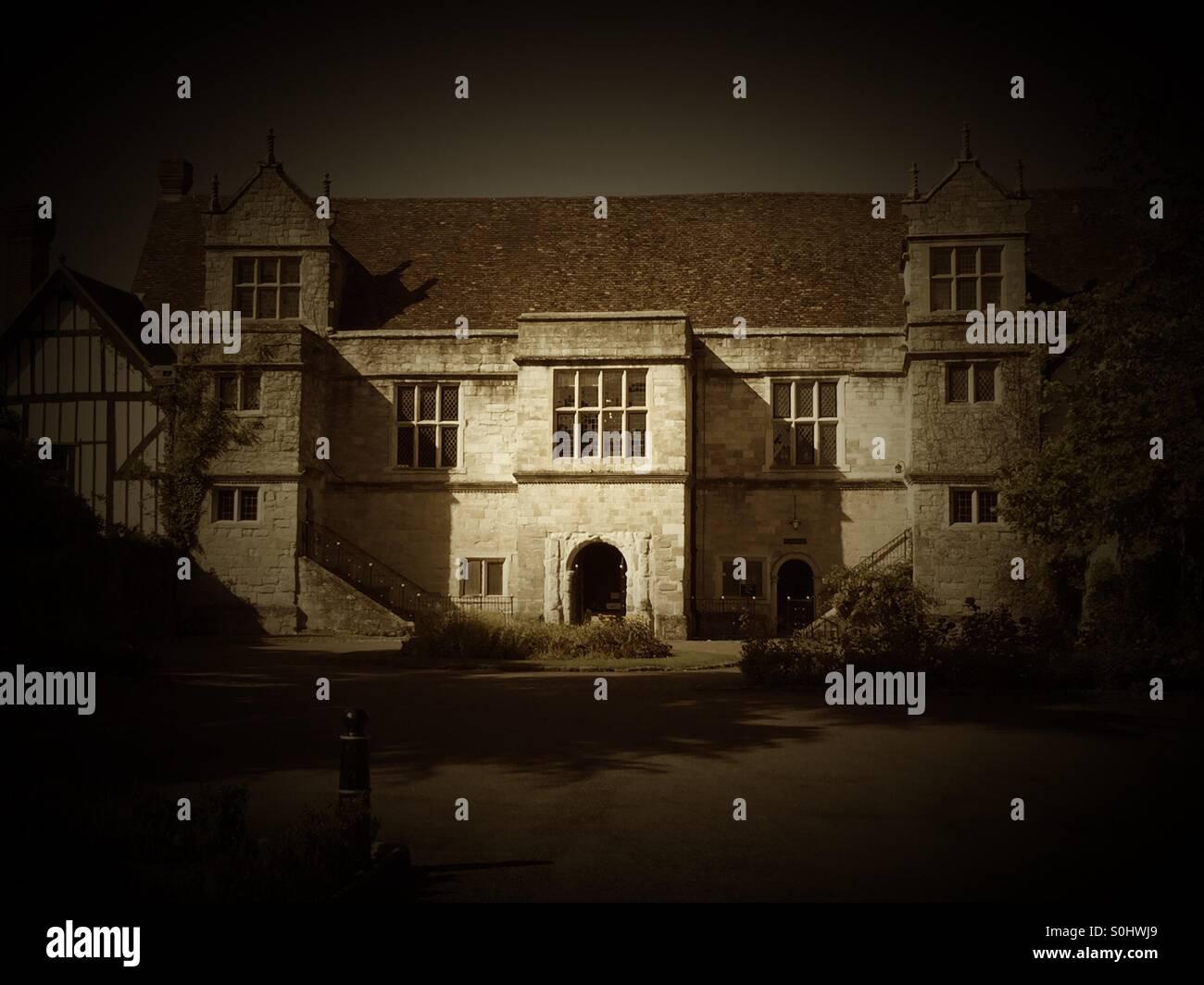 Archbishops Palace Maidstone Kent with sepia tones - Stock Image
