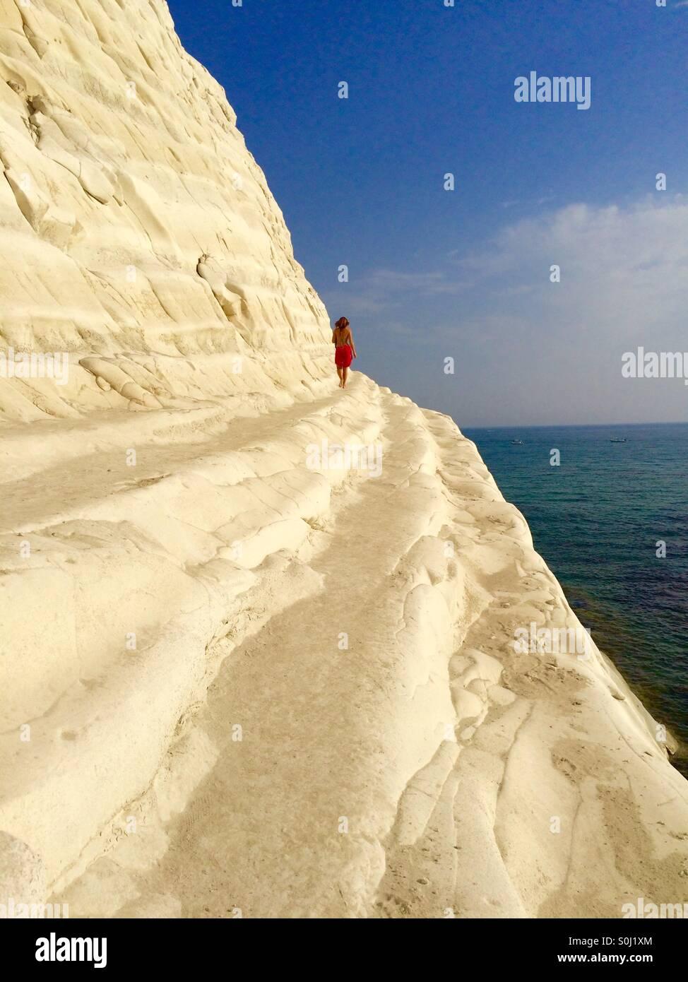 White cliff - Stock Image