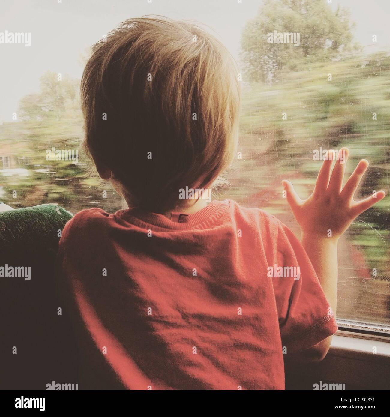 Train ride - Stock Image