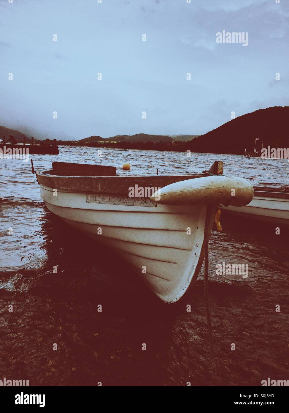 Ullswater lake rowing boat - Stock Image