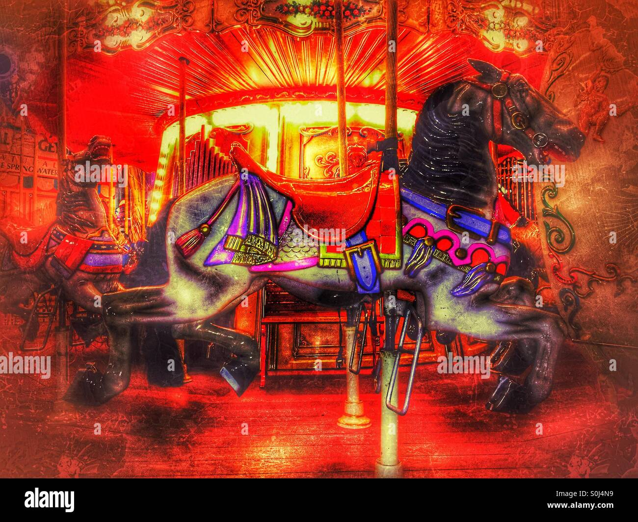 Merry Go Round Ride Stock Photos Images